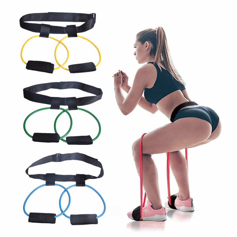 Fitness Women Booty Butt Band Resistance Bands Adjustable Waist Belt Pedal Exerciser For Glutes Muscle Workout Equipments