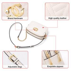Image 5 - Foxer split couro senhora moda bolsa de ombro casual feminina clássico marca saco grande capacidade do sexo feminino cruz corpo sacos pequena bolsa