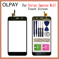 OLPAY 5.0'' inch Mobile Touch Screen For Vertex Impress Wolf Touch Screen Digitizer Panel Front Outer Front Glass Lens Sensor