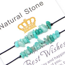 Momiji – ensemble de Bracelets en pierre naturelle pour femmes, 2 pièces, chaîne en corde, tous les bijoux de mariage bohème faits à la main, vente en gros