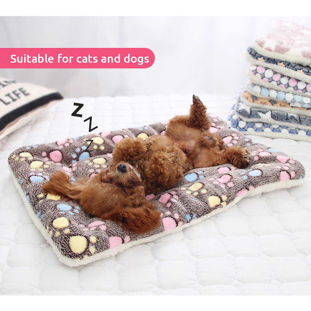 Zagęszczony mata na łóżko Pet miękki koc z polaru na szczeniaczek poduszka na sofę dla kota zmywalny dywanik do domu utrzymuj ciepło S/M/L/XL/XXL/XXXL