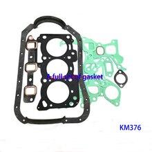 KM2V80 kit di revisione KM376 set completo di guarnizioni per accessori generatore diesel a tre cilindri a due cilindri KIPOR