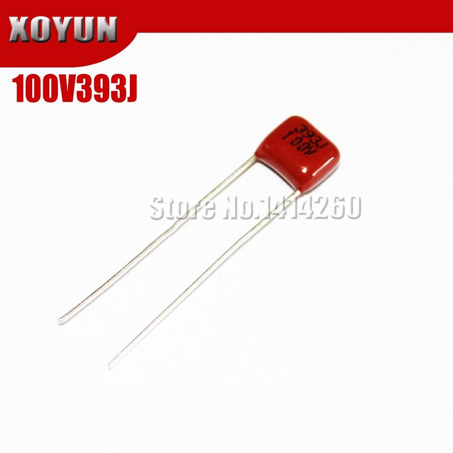 10pcs/lot CBB 100V393J 0.039UF 39NF Pitch 5MM 393J 100V CBB Polypropylene Film Capacitor