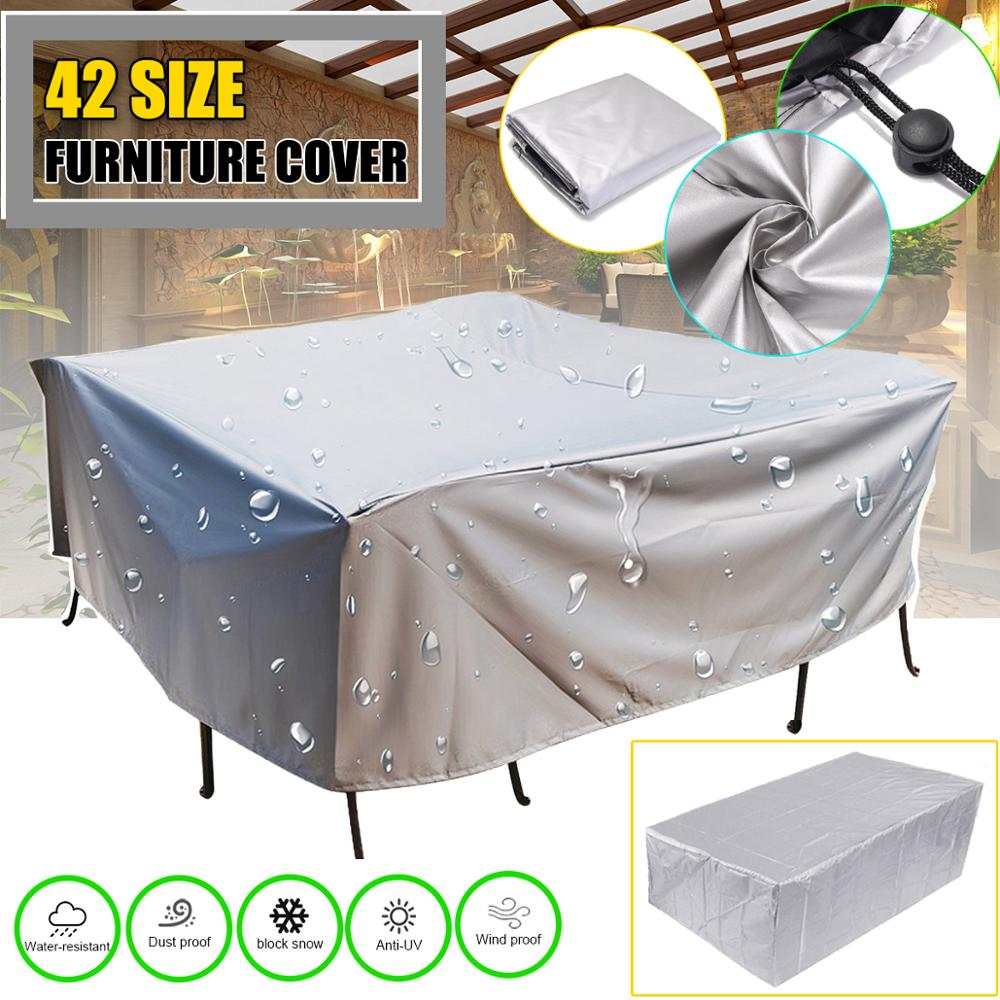 Waterproof Outdoor Patio Garden Furniture Covers Rain Snow Chair covers for Sofa Table Chair Dust Proof Cover(China)