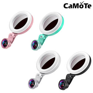 Ring-Light Flash-Lamp Tablet Selfie for iPhone Lens Led-Makeup Non-Distortion Wide-Angle