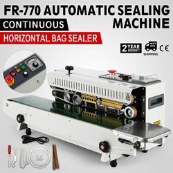 Nowy FR 770 ciągłe zespół poziome zgrzewarka worków automatyczne urządzenie do uszczelniania 110V na