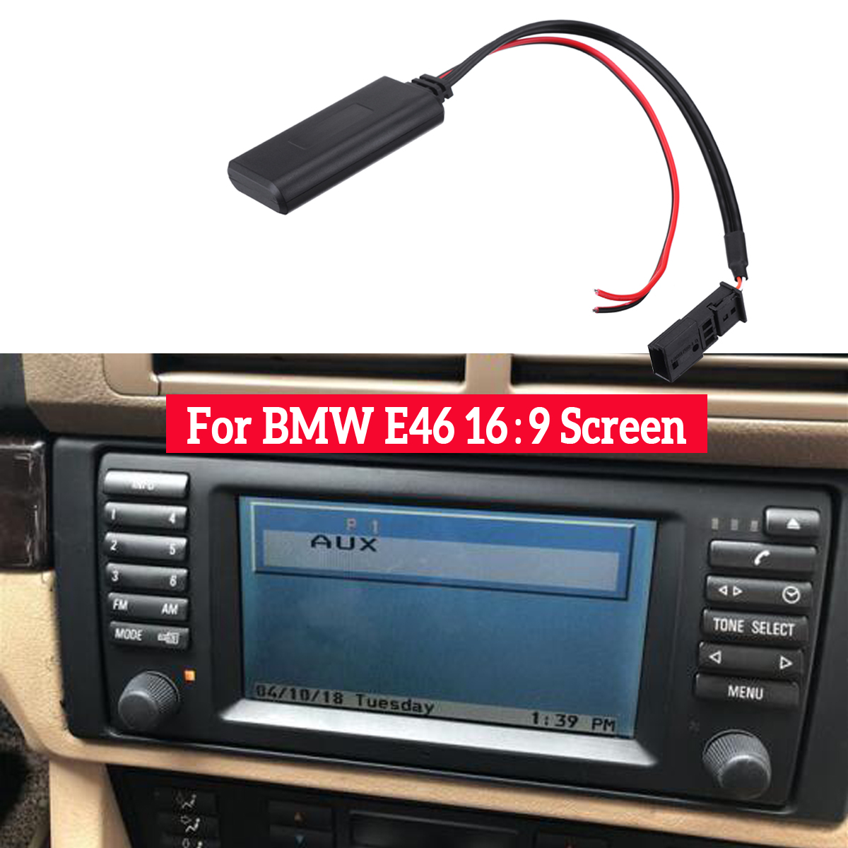 Автомобильный bluetooth модуль AUX в аудио Радио адаптер 3-контактный для BMW BM54 E39 E46 E38 E53 X5 Автомобильная электроника Аксессуары
