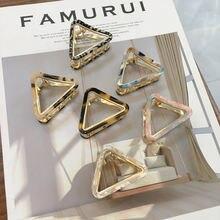 Женские Треугольные заколки для волос из ацетата золотые крабы