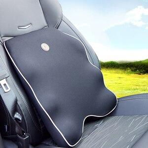 Image 2 - Neck Pillow Car Seat Headrest Pillow Seat Support Lumbar Cushion Orthopedic Design Travel Pillow Memory Foam Relieve Pain