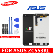 Original 5.5IPS LCD For ASUS Zenfone 3 Max ZC553KL LCD Display Touch Screen with Frame Digitizer Assembly LCD For Asus ZC553KL original for asus zc550tl lcd display touch screen digitizer assembl for asus zenfone 4 max plus zc550tl lcd frame x015d replace