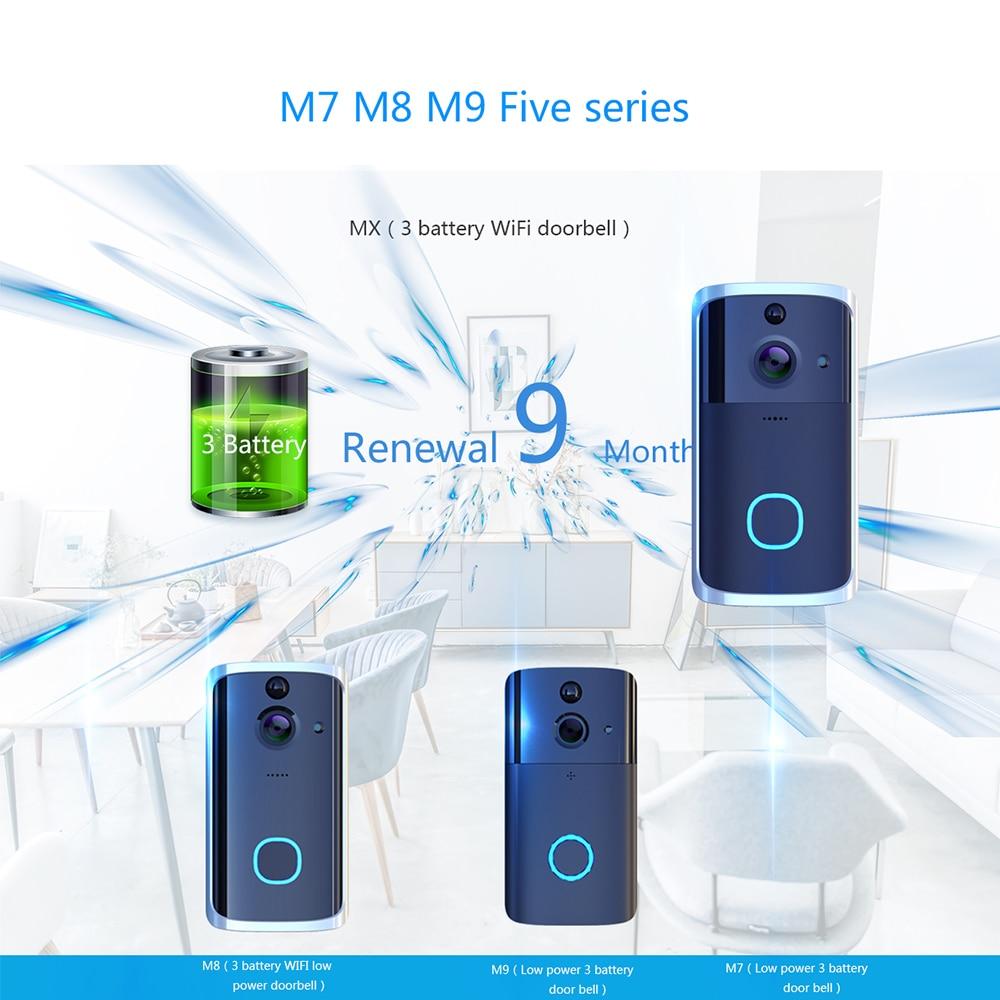 Умный wifi дверной Звонок камера IP видео домофон видео дверной звонок для квартиры ИК сигнализация беспроводная камера безопасности