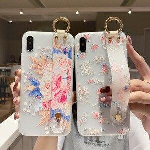 Floral Case For Xiaomi Poco F2 Pro Case Silicon Wrist Strap Fundas Xiomi Redmi Note 8T 9 8 Pro Max 9S Mi 9T A3 9 10 Lite Cover