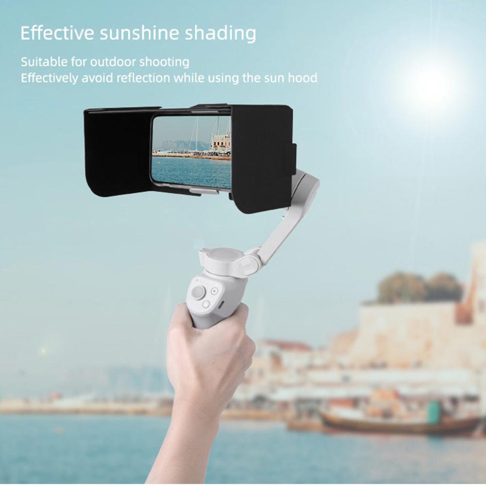 For OM 4 Mobile Phone Hood Foldable  Magnetic Leather Hood Sunshade Precise molding specially designed for OM 4 Built-in magnet