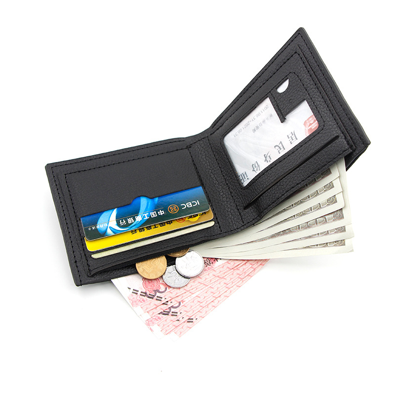 Men's Wallets Short Casual Fashion Simple Thin Wallet Youth Large Capacity Men Wallet Card Holder Coin Purse small men wallets