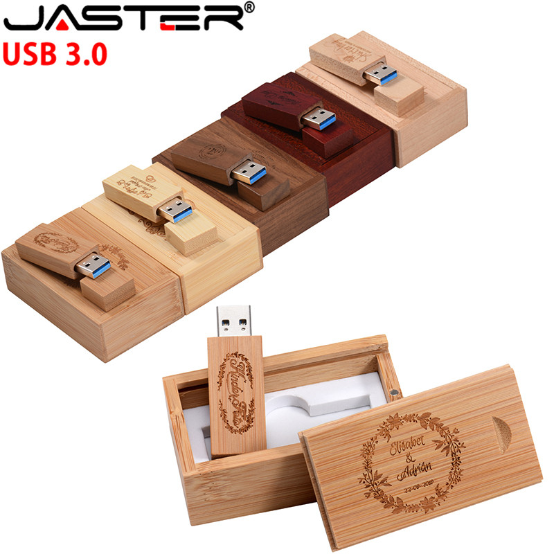 JASTER Wooden Style LOGO Usb Flash Drive 4gb 8gb 16gb Pendrive 32gb 64gb Usb Stick Pen Drive Usb3.0
