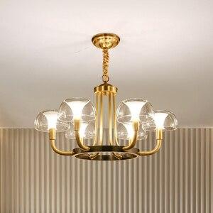 Image 1 - Modern Luxury Copper Creative Chandelier Lighting For Living/Dining Room American Light Nordic Lighting Fixture Indoor Lights