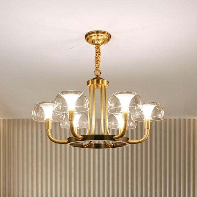 Modern Luxury Copper Creative Chandelier Lighting For Living/Dining Room American Light Nordic Lighting Fixture Indoor Lights