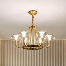 Современный роскошный медный креативный люстра, светильник ing для гостиной/столовой, американский светильник, нордический светильник, комнатный светильник s