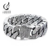 Мужской браслет fongten винтажный уникальный из нержавеющей