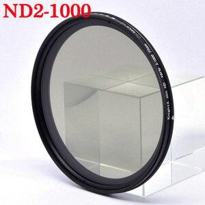 Image 2 - KnightX ND2 to ND1000 değişken Nötr Yoğunluk Ayarlanabilir Kamera Lens Filtre canon sony nikon 49mm 52mm 55mm 58mm 67mm 77mm