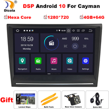 """8 """"PX6 DSP אנדרואיד 10 רדיו אודיו סטריאו לרכב DVD GPS ניווט ראש יחידה Sat Nav עבור פורשה קיימן boxster 911 997 2005 2008"""
