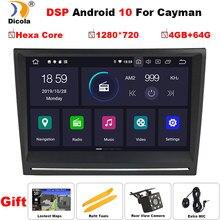 Radio PX6 con GPS para coche, Radio con navegador, Android 10, 8 pulgadas, estéreo, DVD, unidad de navegación, navegador Sat, para Porsche, Cayman, Boxster, 911, 997, 2004-2009