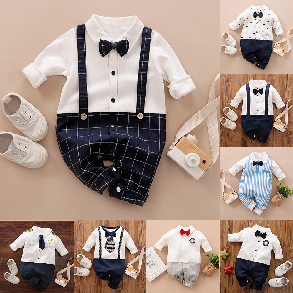 Malapina 2020 Newborn  Baby Boy Clothes Onesie Romper Jumpsuit Overalls Infant Cotton Outfit Baby Unisex Baptism Costume