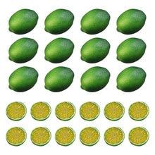 Decoration Fake Lemons Limes And Slices Set For Home Kitchen Trumpet Ornaments Pack Of 36 Decorative Faux Citrus Fruits