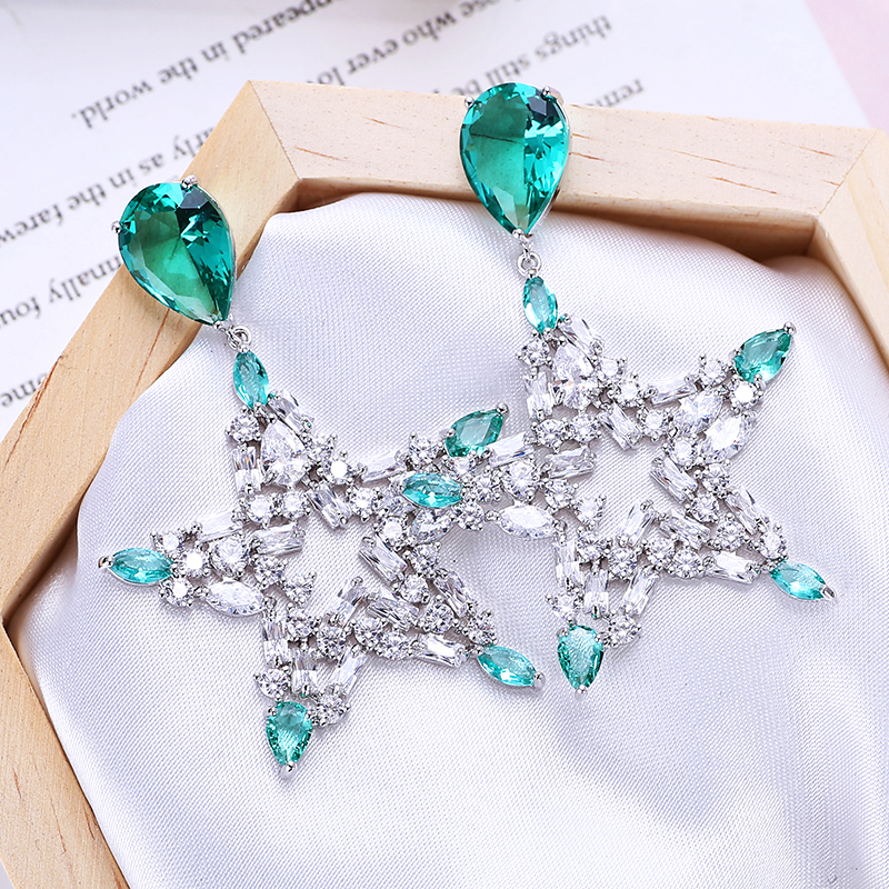 VERY GIRL Big Star Women Earrings Luxury Crystal Drop for 2019 Newest Jewelry Designs