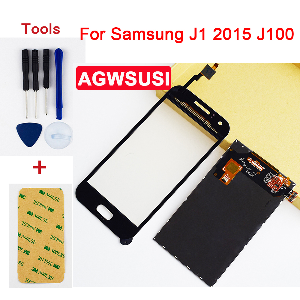 Für <font><b>Samsung</b></font> Galaxy J1 2015 <font><b>J100</b></font> J100F J100FN J100H Full Touch Screen Digitizer Sensor Glas + <font><b>LCD</b></font> Display Monitor Panel image