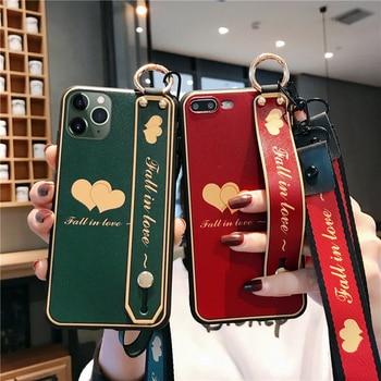 SoCouple Phone Holder Case For iphone XR X Xs 11 Pro Max SE 7 8 6 6s plus Fruit Avocado Soft TPU Neck Wrist Strap Lanyard Case 2