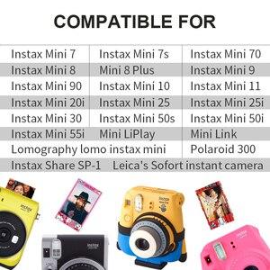 Image 5 - Oryginalny Fujifilm Fuji Instax Mini 8 makaronik Film 10 do 50 arkuszy dla 70 50 s 7s 90 25 udostępnij SP 1 aparaty błyskawiczne nowy przyjazd