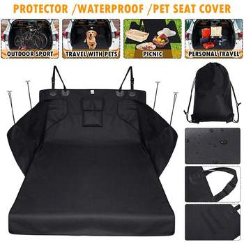 New Dog Car Trunk Mat Hammock Boot Pet Seat Cover Barrier Protect Floor Non-slip Foldable Waterproof Dirt Resistant Rear Seat 1