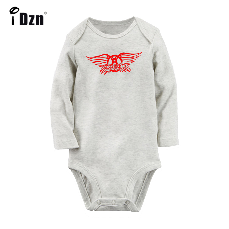 Aerosmith Classic Rock Music Steven Tyler Design Newborn Baby Bodysuit Toddler Long Sleeve Onsies Jumpsuit Cotton Clothes