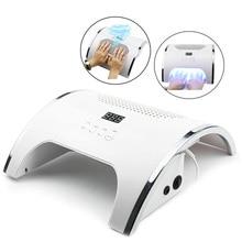 80W 2-в-1 лампа для ногтей и ногтей пылесборник маникюр с два мощных вентилятора 36 светодиодов Сушилка для ногтей пылесос инструменты для маникюра