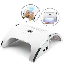 80W 2-IN-1 Nail Lamp & Nail Dust Collector Manicure with Two Powerful Fan 36 LEDs Nail Dryer Vacuum Cleaner Manicure Tools(China)