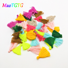 50pcs/lot Colorful Mini Tassel For Jewelry Making Necklace Earring Handmade Pendant DIY Accessories Cotton Tassel Wholesale