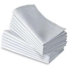 15    50PC 100% COTTON RESTAURANT DINNER CLOTH LINEN WHITE 50x50cm PREMIUM HOTEL NEW NAPKINS