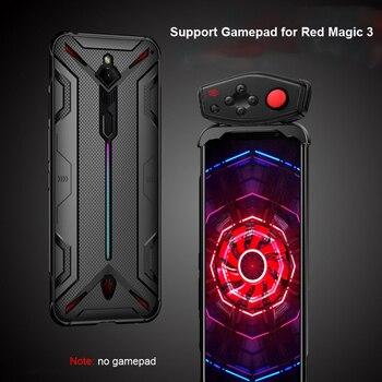 Перейти на Алиэкспресс и купить Противоударный чехол s для Nubia Red Magic 3 3S Чехол Мягкий ТПУ крышка с рассеиванием тепла поддержка геймпад для Red Magic3 3S Чехол Funda