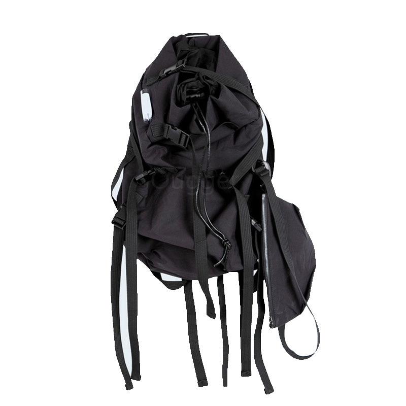Men/'s Black Leather Large Capacity Outdoor Travel Hiking Backpack Rucksack