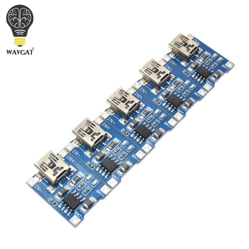 5 шт. TP4056 1A специализированная зарядная панель для литиевой батареи, зарядный модуль зарядного устройства литиевой батареи 1A, зарядная плат...
