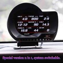 Oryginalny LUFI XF OBD2 samochodów cyfrowy turbo boost ciśnienie oleju wskaźnik temperatury dla samochodów Afr RPM poziom paliwa prędkość EXT miernik oleju