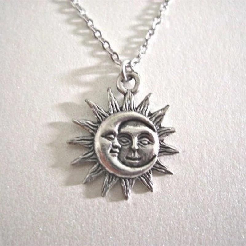 Солнце и луна ожерелье ювелирных изделий, цепочка, колье для женщин, колье-чокер, свадебная обувь, модная обувь, ювелирное изделие, подарок