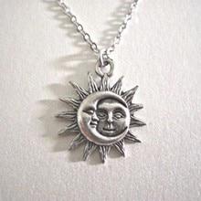 Sol e lua pingente colar charme corrente colares para mulheres gargantilha colar casamento moda jóias presente