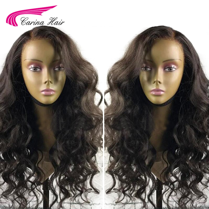 Carina Brazilian Loose Wave 13*3 Lace Front Hair Wigs With Baby Hair Remy Human Hair Glueless Wigs Bleached Knots