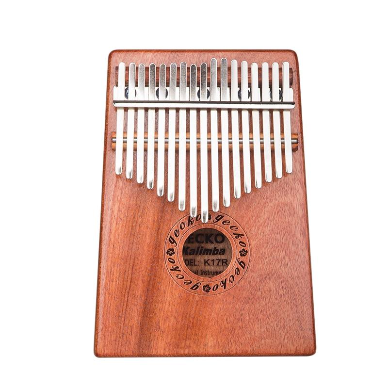 Instrumentos de Música Percussão para Crianças Gecko Chave Kalimba Folheado Polegar Piano Dedo Presente Adulto 17 K17r Mod. 311598