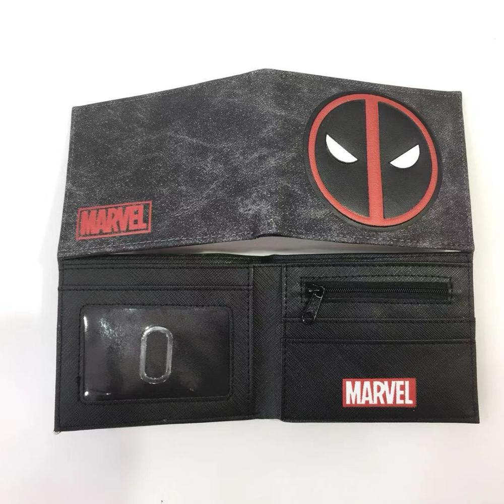 The Flash Wallet 3D Logo Bifold Wallets Deadpool Captain America Superhero Purse