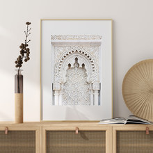 Affiche de voyage de porte imprimée marocaine moderne, toile d'art mural Boho oriental, peinture d'images pour décoration de maison de salon