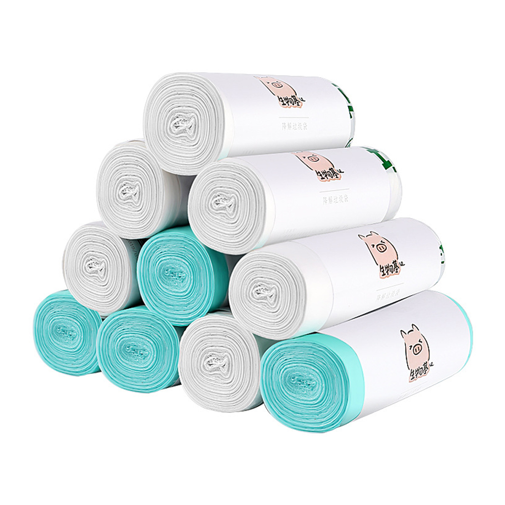 Disposable Corn Biodegradable Household Garbage Bags Classified Toilet Cleaning Kitchen Trash Bags Thicker Plastic Bags