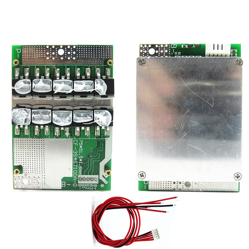 BMS 4S Lifepo4 50A 100A 18650 Battery Pack Lithium Protection Board 3.2V 12V With Balance Equalizer Balancer Board Common Port